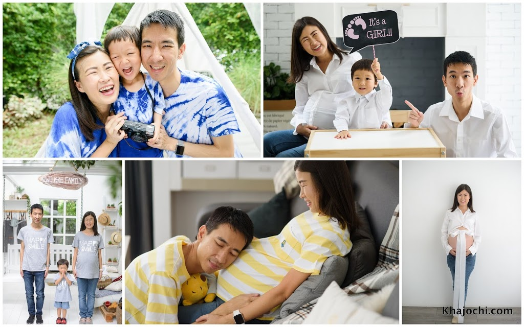ถ่ายภาพครอบครัว ภรรยาที่ท้องลูกน้อย 9 เดือนก่อนวันคลอด [ชมภาพ]